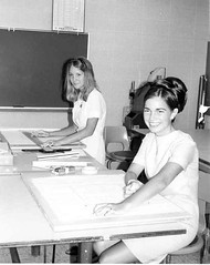 Design Students-Late 1960s (Library @ Randolph Community College) Tags: north carolina asheboro randolphcommunitycollege randolphindustrialeducationcenter