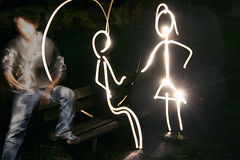 // il terzo incomodo aka shiny happy people [light painting] (//BWR) Tags: park light people lightpainting me night painting myself happy back shiny bologna strike bwr omini incomodo terzo massimofuligni wwwlamorchemoveilsoleelaltrestelleit