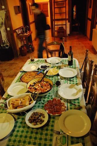 Homemade Spanish dinner