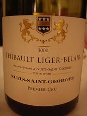 2002 - Nuits Saint Georges 1er Cru (Daniel (Jiuwine.com)) Tags: thibault domaine ligerbelair