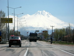 Hasan Dag from Aksaray (brunoboris) Tags: turkey volcano highway streetlights snowcapped cappadocia aksaray hasandag