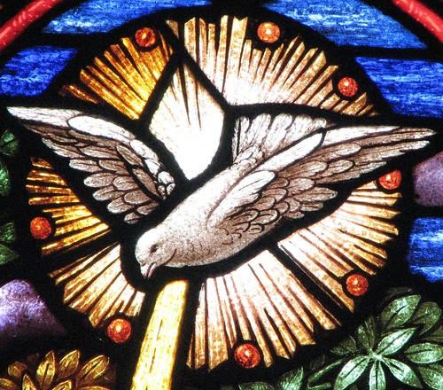 Holy Spirit dove window by hickory hardscrabble, on Flickr