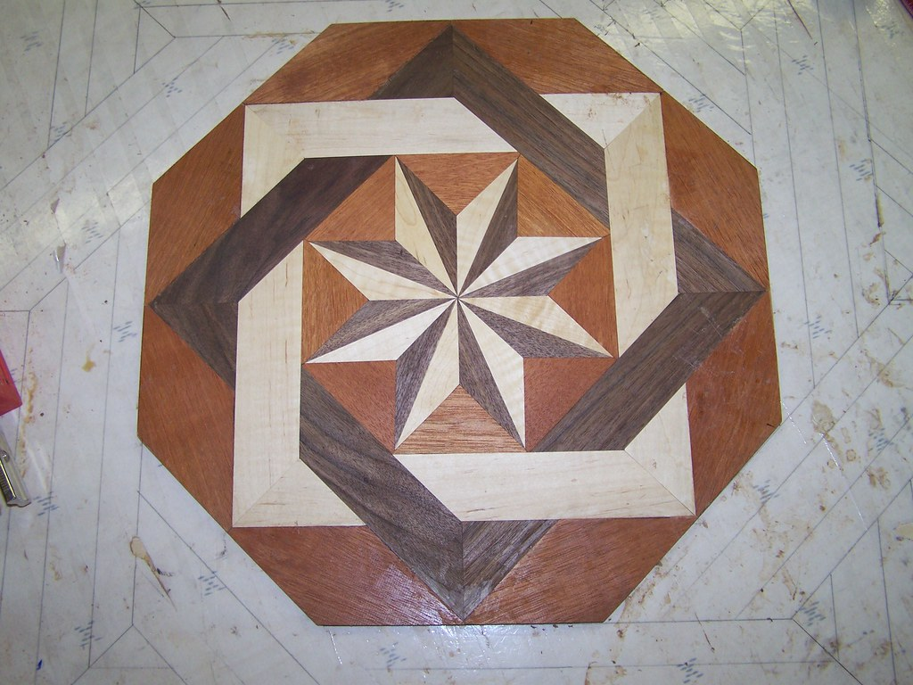 "Church - Center Octagon portion of a 39"" Double Square Floor Inlay"