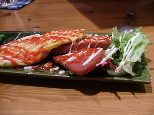 5.18晚餐-輕食..煎蛋+火腿