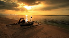Shadow of The Sun, Gili Meno Lombok Indonesia - by Fadil Basymeleh
