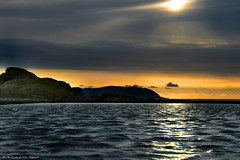 Sunset over Minehead (Dave Hayward) Tags: sunset sea seascape water clouds reflections rocks ripples minehead sedgemore davehayward onlythebestare