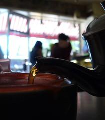 Tea Time (Trish Mayo) Tags: food newyork cafe tea teapot pouring morningsideheights hungarianpastryshop
