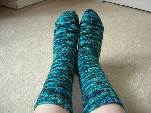Blue Colinette socks 3
