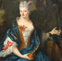 Woman by a Fountain by Jean-Baptiste Oudry (rosewithoutathorn84) Tags: portrait woman art fountain beauty lady gown majestic 18thcentury 1700s eighteenthcentury