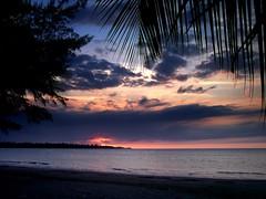 just sit back and relax (javier.izquierdo) Tags: pink blue sunset sea 15fav beach azul geotagged atardecer mar puertorico playa dorado