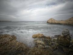stormy bay II (koaxial) Tags: pb22045456p4ma1jpg koaxial bay bucht stormy water sea meer rocks steine felsen waves slashing clouds sky himmel wolken