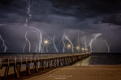 Mother nature at it's best (emmafleetwoodphotography) Tags: thunderstorm lightning storm adelaide southaustralia australia beach grange jetty night nikon nightsky