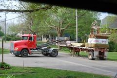 Our Fence Arrives (Dazed81) Tags: fence semi arrived unload