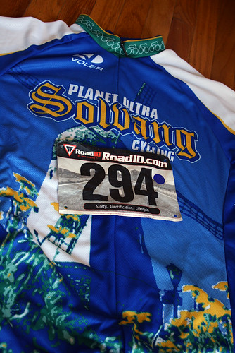 Event jersey and the rider number