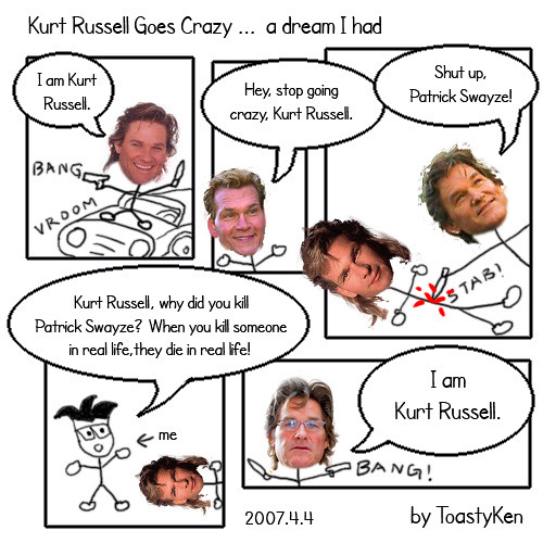 Kurt Russell Goes Crazy ... a dream I had