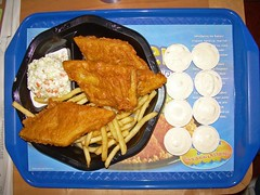 Two fish combo with extra fish and slaw