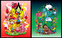 Jon Burgerman x TADO preview 1 (TADO DEATH BRIGADE) Tags: paris france artwork plush colourful collaboration tado jonburgerman hotsexy immatureminiatures