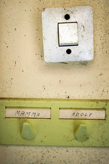 (sandra juto) Tags: wall bathroom letters mamma names hook adolf hanger lightswitch adolfshouse