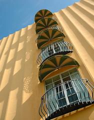 Downtown Hollywood FL (Tanya Sharkey) Tags: shadow yellow balcony balconies arcitecture challengeyouwinner 15challengeswinner 10n1arcitecture
