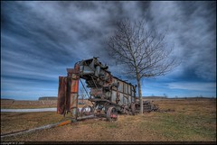 Another Time (A guy with A camera) Tags: sky canada tree nature field clouds rural vintage nikon rust scenery flickr antique farm country machine rusty sigma farmland equipment alberta combine land farmer horsedrawn prairie agriculture 1020 hdr ruraldecay harvester threshing farmstead d80 abigfave superaplus aplusphoto