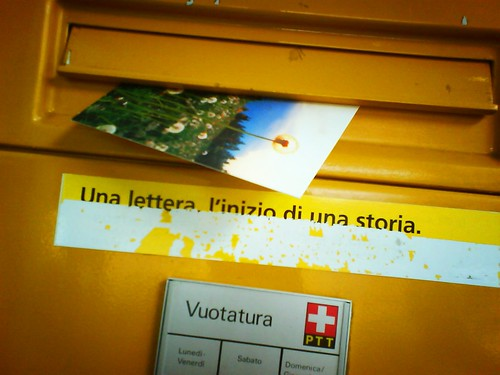 Una lettera. L'inizio di una storia.