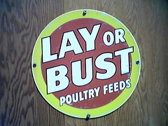 Lay or Bust brand poultry feeds