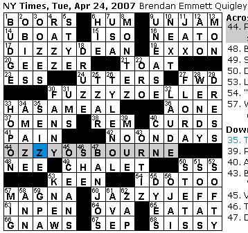 Tuesday April 24 2007  sc 1 st  Rex Parker - blogger & Rex Parker Does the NYT Crossword Puzzle: April 2007 25forcollege.com