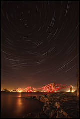 Forth Rail Bridge (rg250871) Tags: bridge night stars star scotland edinburgh fife rail trail forth startrails forthbridge southqueensferry forthrailbridge earthandspace canonef1635mmf28lusm robbiegraham Astrometrydotnet:status=failed astro:subject=starsoverforth astro:gmt=20070426t2345 Astrometrydotnet:id=alpha20090217341830