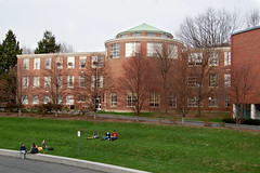 Old Hasbrouck (towert7) Tags: old college d50 campus ma spring physics knoll amherst umass grassy hasbrouck