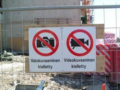 Valokuvaaminen kielletty