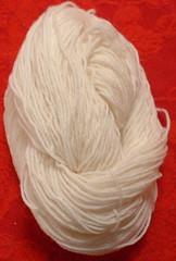 mitten yarn white