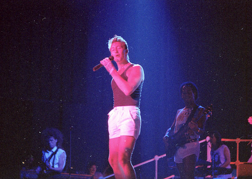 Julian Lennon during the Valotte tour 1985