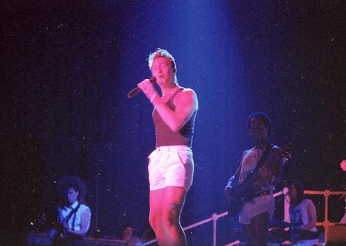 Julian Lennon during the Valotte tour 1985