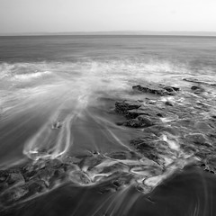 Backwash (Adam Clutterbuck) Tags: ocean sea blackandwhite bw seascape monochrome wales square landscape mono blackwhite waves wave bn glamorgan bandw sq oe backwash llantwitmajor greengage adamclutterbuck showinrecentset walglamheri openedition