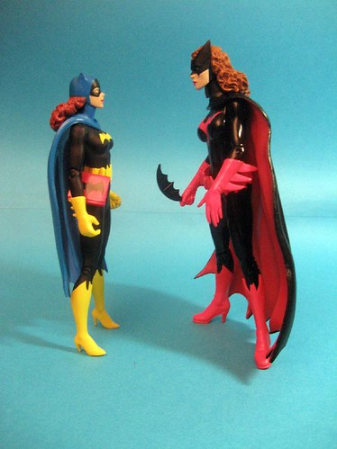 Batgirl and Batwoman