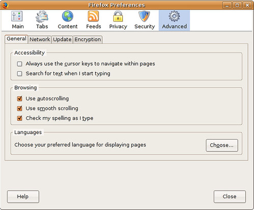 Firefox Advanced Options