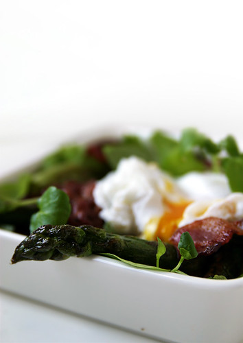 Asparagus, Bacon & Poached Egg Salad