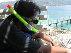 snorkel mode (Brennan Mercado) Tags: lighthouse white san paradise philippines tropical cebu destination sugbo sands sumilon sugbu cebusugbo sumilonisland balwarte