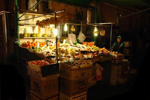 29 Fruitseller by night