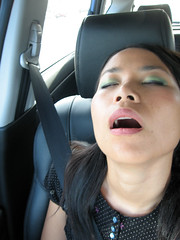 passed out (kozyndan) Tags: sleeping car funny sleep makeup kozy