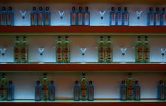 bombay sapphire (zof) Tags: blue summer green bar night island islands bars nightshot drink decoration greece drinks ambient deco liquid coolest ambience mykonos bombaysapphire