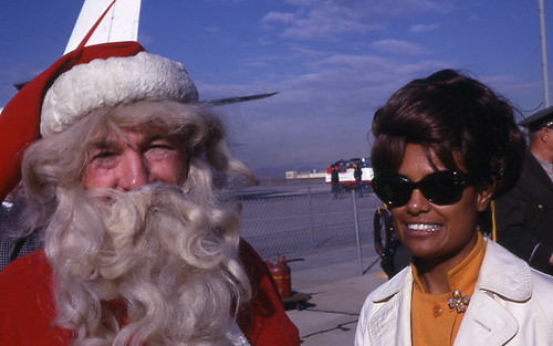 Barbara McNair and Santa