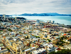 San Francisco Bay and The Golden Gate (Stuck in Customs) Tags: pictures sf sanfrancisco california lighting bridge light panorama art texture colors lines modern composition work reflections painting photography bay intense nikon perfect san exposure shoot artist mood photographer shot angle pacific photos unique background details d2x perspective atmosphere images best edge goldengate coittower processing pro sanfranciscobay framing capture tones hdr coit sfbay treatment franscisco mostviewed highquality stuckincustoms treyratcliff focuspocus2