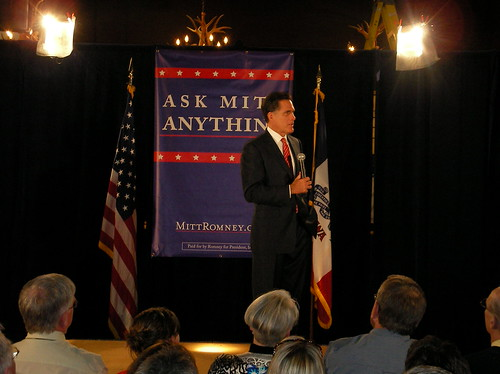 Mitt Romney visits Ames, Iowa, May 2007.