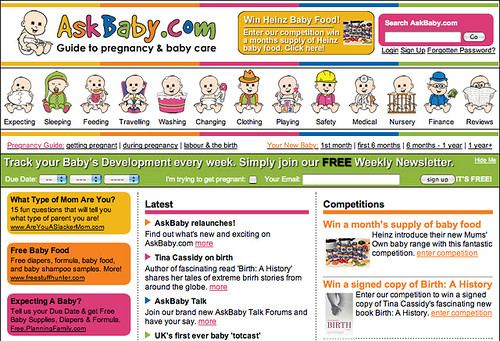 Google AdSense on AskBaby.com