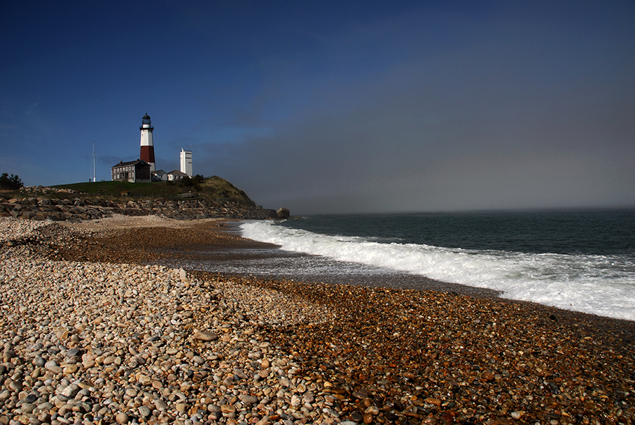 Montauk Light with fog