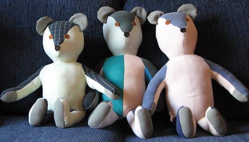 Trio of Teddys