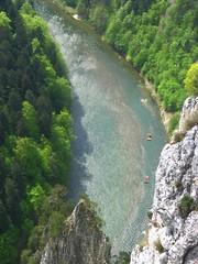 View from Sokolica to rafts on Dunajec River (Karol Majewski) Tags: rafting raft dunajec pieniny sokolica tratwa