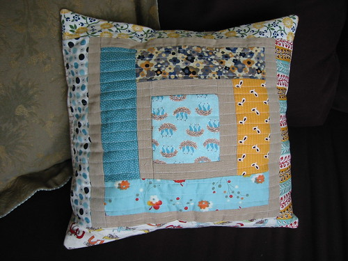 my first log cabin pillow