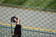 please give me the shot! (tennisproian) Tags: camera race fence nascar